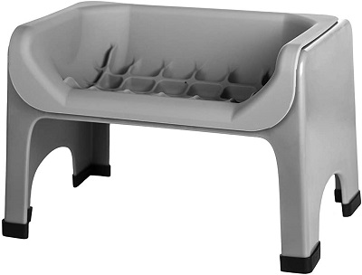 Fluff trough raised dog bowl for disabled dogs