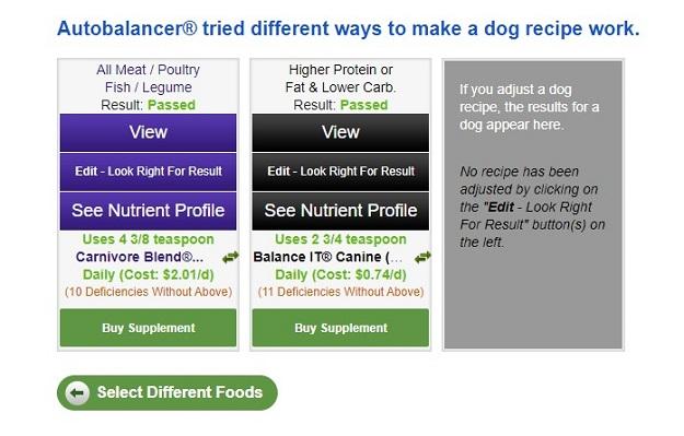 Autobalancer for Balance IT pet food