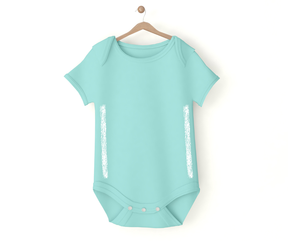 Baby onesie ready to be tailored